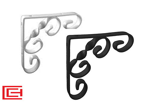 Ornamental Scroll Shelf Brackets