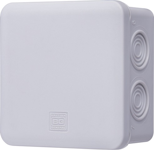 Square Junction Box 100 Mm Empty Ip55