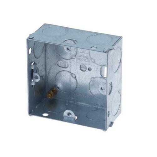 1 Gang 35Mm Flush Metal Box