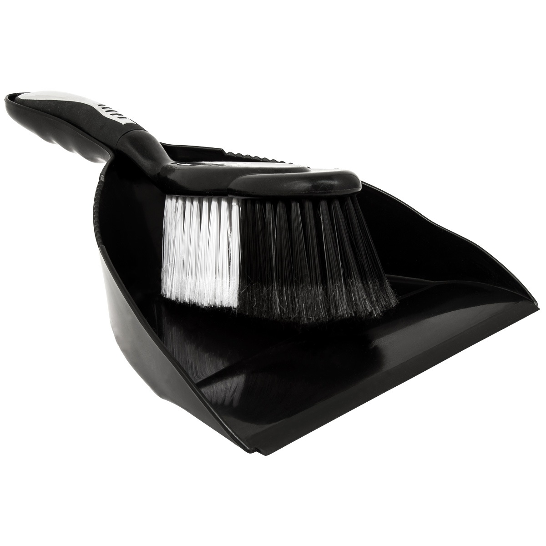 Hallmark Dustpan & Brush Black/Chrome