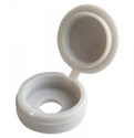 (X100) White Hinged Cover Caps(10-12G)