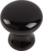 Ceramic Knob Black 38mm