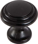 Ringed Knob Black 25mm