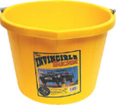 Invincible Yellow Bucket H/D 15 Ltr