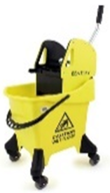 H/D Mobile Mop Bucket & Wringer 31 Ltr Yellow