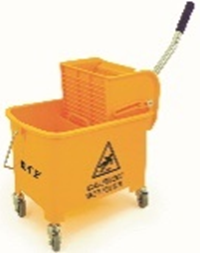 Mobile Mop Bucket & Wringer 20 Ltr Orange