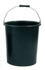 Deep Plasterers Bucket 30 Ltr Black