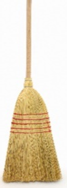 Corn Broom Complete W/Handle