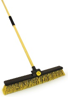 "Bulldozer Broom 24"" Complete With Handle"