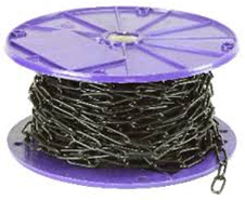 Chain 6mm X 33mm Black 15M Reel