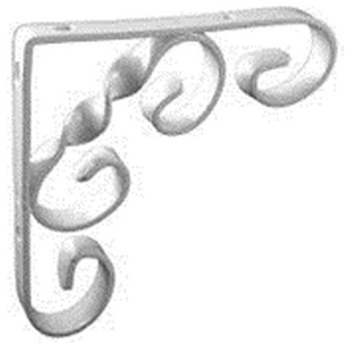 Scroll Shelf Bracket White 4 X 4