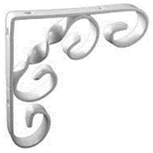 Scroll Shelf Bracket White 6 X 6