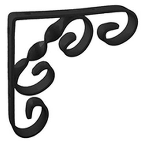 Scroll Shelf Bracket Black 4 X 4