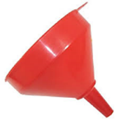 Plastic Funnel Red 120mm