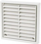 Louvered Vent White 4""
