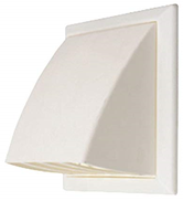 Louvered Vent & Cowl White 110mm X 54mm