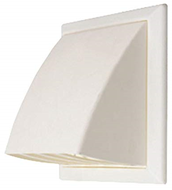 Flapped Vent & Cowl White  110mm X 54mm